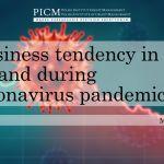 Business tendency in Poland during coronavirus pandemic